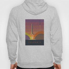 Falcon 9 Launch minimalist  Hoody