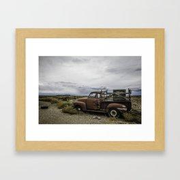 Taos Truck Framed Art Print