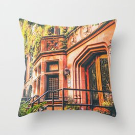 New York City Autumn Pumpkin Throw Pillow