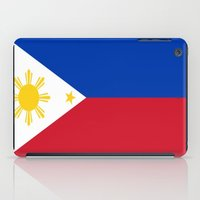 philippines iPad Cases featuring Flag of the Philippines by Neville Hawkins