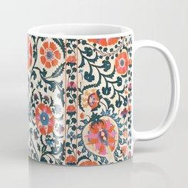 Shakhrisyabz Suzani  Uzbekistan Antique Floral Embroidery Print Coffee Mug