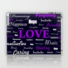 Love is Purple, Fire and Serenity combined Laptop & iPad Skin