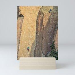 Rock Climbing At Smith Rock, No. 2 Mini Art Print
