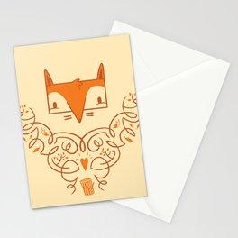 Ornate Fox Stationery Cards