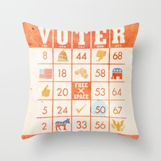 The Bingo Vote Throw Pillow