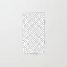 Pattern Abstrait Coeurs Gris Hand & Bath Towel
