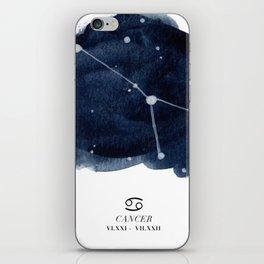 Zodiac Star Constellation - Cancer iPhone Skin