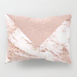 Pastel pink warm rose marble Pillow Sham