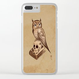 Wise Old Owl Clear iPhone Case