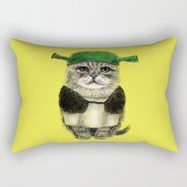 Shreky Cat Rectangular Pillow