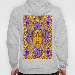 Purple Amethyst Butterfly Love & Gold Face Hoody