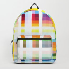 Myling - Colorful Decorative Abstract Art Stripes Pattern Backpack