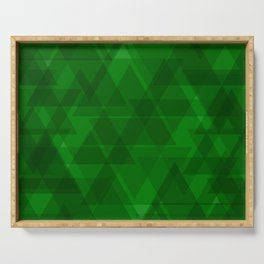 Bright green triangles in intersection and overlay. Serving Tray