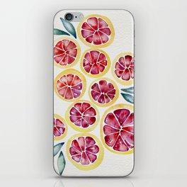 Sliced Grapefruits Watercolor iPhone Skin