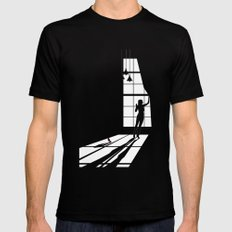 Light Black MEDIUM Mens Fitted Tee