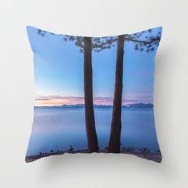 Dawn at Tahoe Throw Pillow