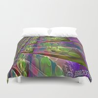 silent Duvet Covers featuring Silent Peace by BeachStudio