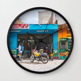 On the Street, Guatape, Colombia Wall Clock