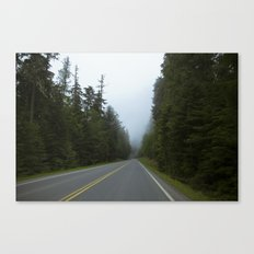 Misty Mountain Road Canvas Print