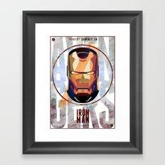Avengers : IRON MAN print  Framed Art Print