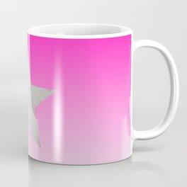 Star  Glitter effect  Pink  White Coffee Mug