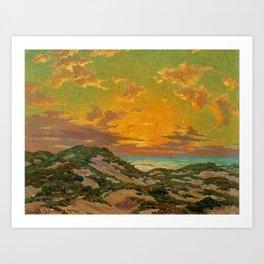 Sunset amid the Dunes by Granville Redmond Art Print