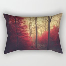 Ruby Red Forest Rectangular Pillow