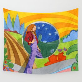 NIGHT AND DAY Wall Tapestry