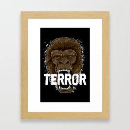 Terror Monkey | Rampage Gorilla Framed Art Print