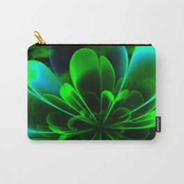 Abstract Green Flower Carry-All Pouch