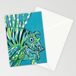 Lion Fish 1, a pretty predator Stationery Cards