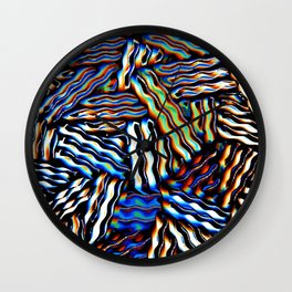 stripey licorice Wall Clock