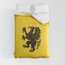 flag of pomorskie or pomerania Comforters