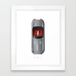 Classic Series N.º1, Jaguar E Framed Art Print