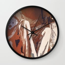 Lincoln Monument watercolor painting in Washington, DC. Wall Clock