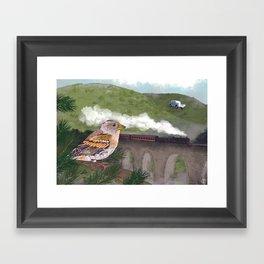 The Flying Car Framed Art Print