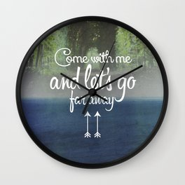 Far away (forest) Wall Clock