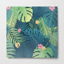 Tropical Jungle Background Design Metal Print