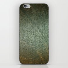 Brown and Green Wood Texture iPhone & iPod Skin