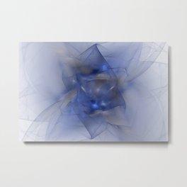 Folds in Blue N Gold Metal Print