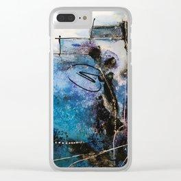 Midnight Sky, Acrylic artwork Clear iPhone Case