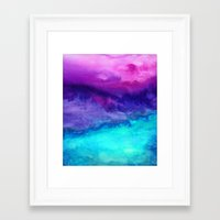 storm Framed Art Prints featuring The Sound by Jacqueline Maldonado