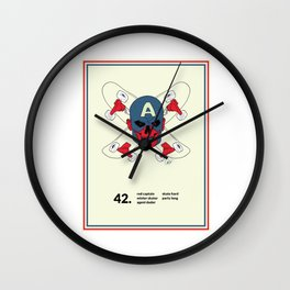 Red Captain Skater Wall Clock