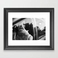 portrait through the car window Framed Art Print