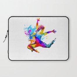 Hip hop dancer jumping Laptop Sleeve