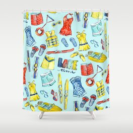 Lake time Shower Curtain