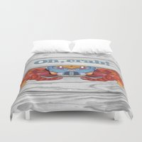 crab Duvet Covers featuring Oh, Crab! by ArtLovePassion