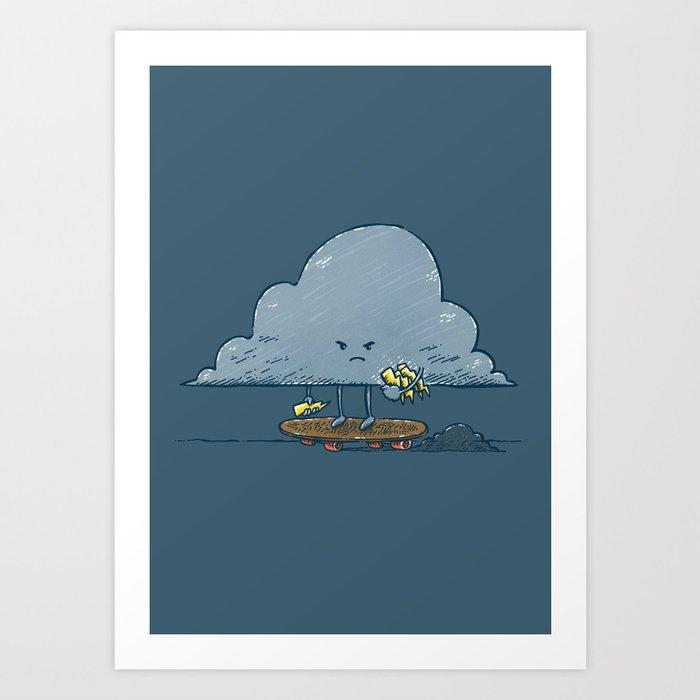 Thunder Cloud Skater Art Print