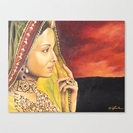Indian Woman Canvas Print