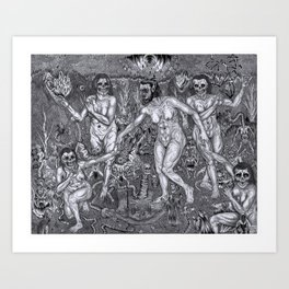 La Danse Macabre Art Print